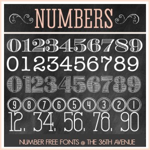 Number Free Fonts @the36thavenue