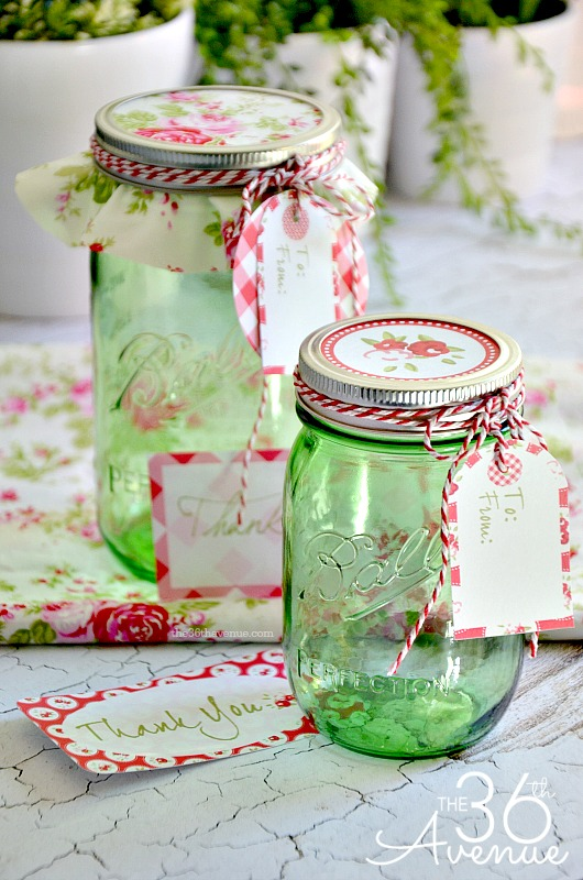 Free Printable And Gift Jar Idea The 36th Avenue