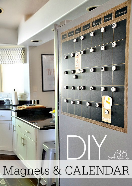 Diy Refrigerator Calendar : The th avenue diy chalkboard magnetic calendar