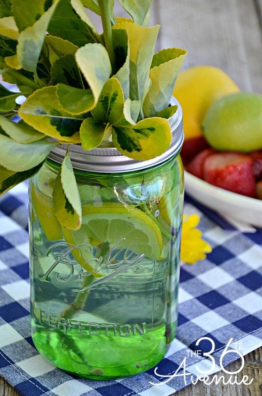 DIY Mason Jar Centerpieces at the36thavenue.com #heritagecollection