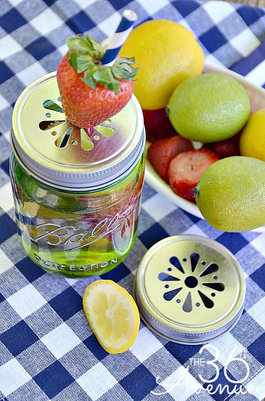 Sparkly Strawberry Lime-ade Recipe at the36thavenue.com ...Yummy! #heritagecollection