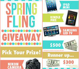Spring Party on Pinterest and Giveaway