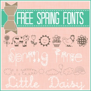 Free Fonts ~ Spring Edition