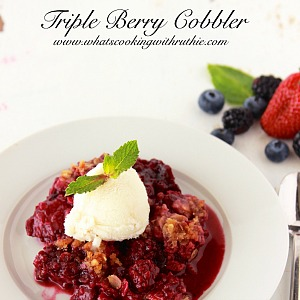 Triple Berry Cobbler the36thavenue.com