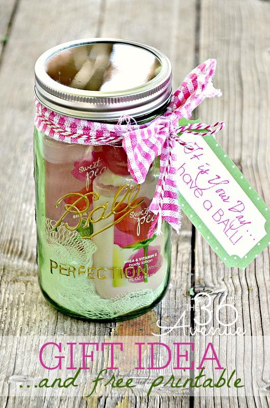 Jar Gift Idea And Free Printable