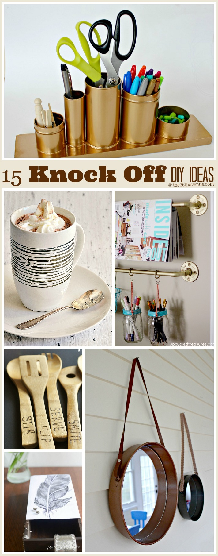 15 Recycled DIY Projects at the36thavenue.com These are super cool!