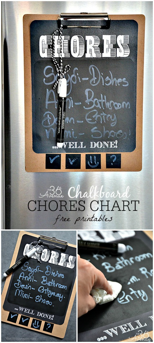 Chores Chart Free Printable at the36thavenue.com