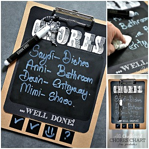 Chores Chart Free Printable and Tutorial