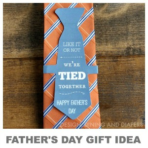 Adorable Father's day Gift Idea and Free Printable