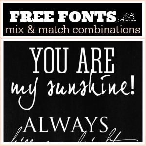 picture about Printable Fonts titled Absolutely free Fonts and Printable Combos - The 36th Road