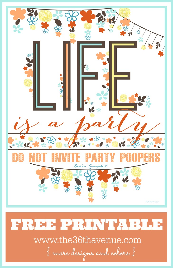 Free Party Printable Brown