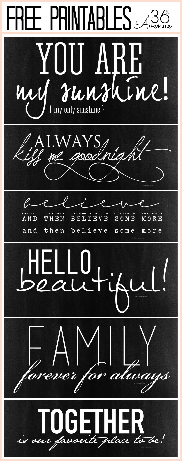 lettering fonts free printable the 36th avenue free fonts and printable combinations 19814 | Free Printable Chalkboard Collection
