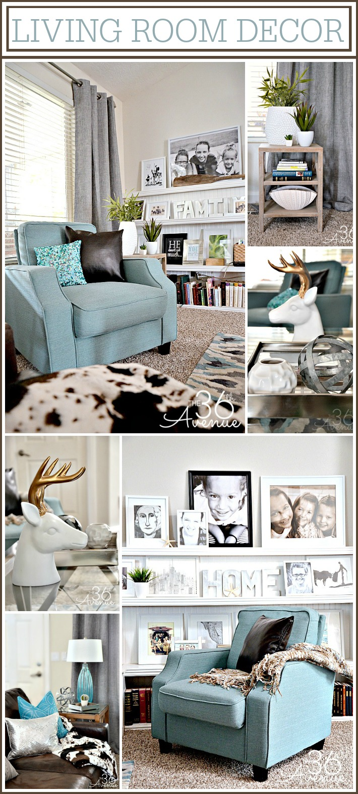 Living Room Decor Ideas at the36thavenue.com