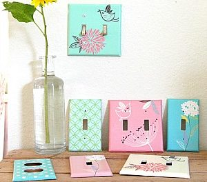 How to Decoupage Outlet Covers