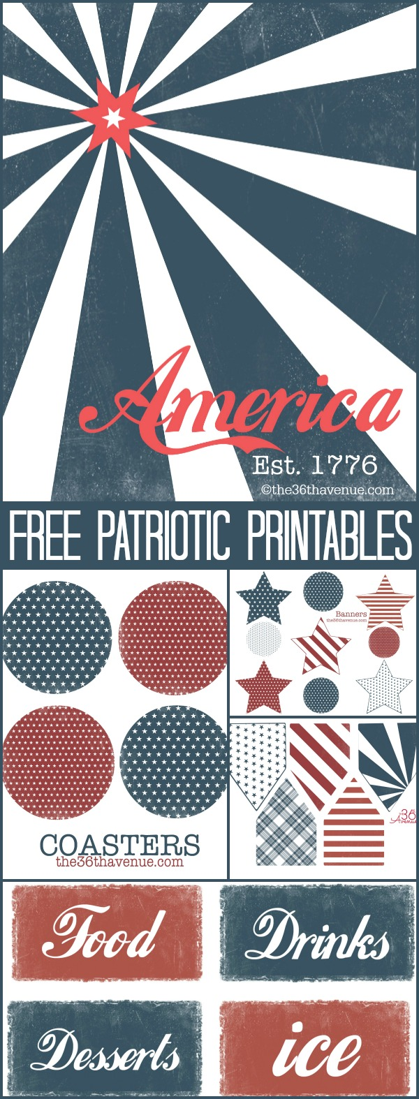 4th of July Printable Kit