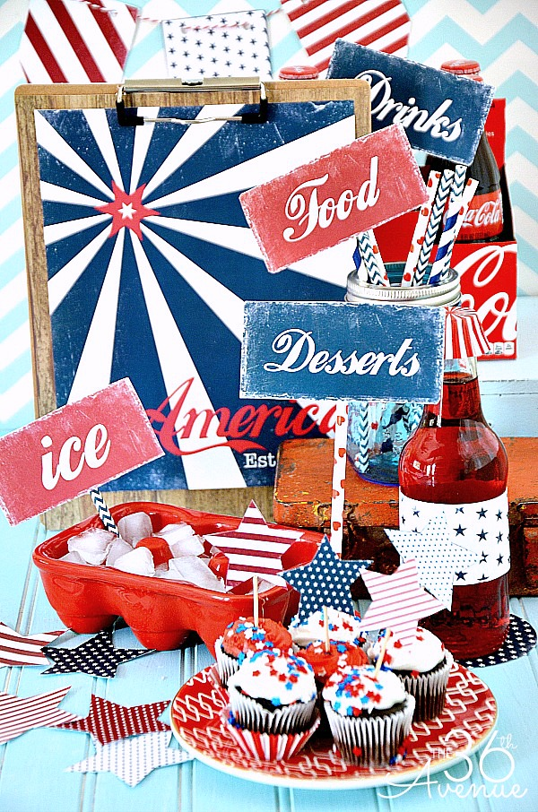 4th of July Printable Set the36thavenue.com