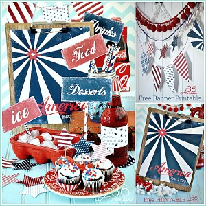 Fourth of July Free Printables... Everything you need to celebrate !!! the36thavenue.com