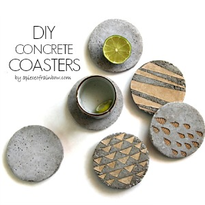 The 36th avenue diy concrete coasters with decorative for How to make concrete coasters