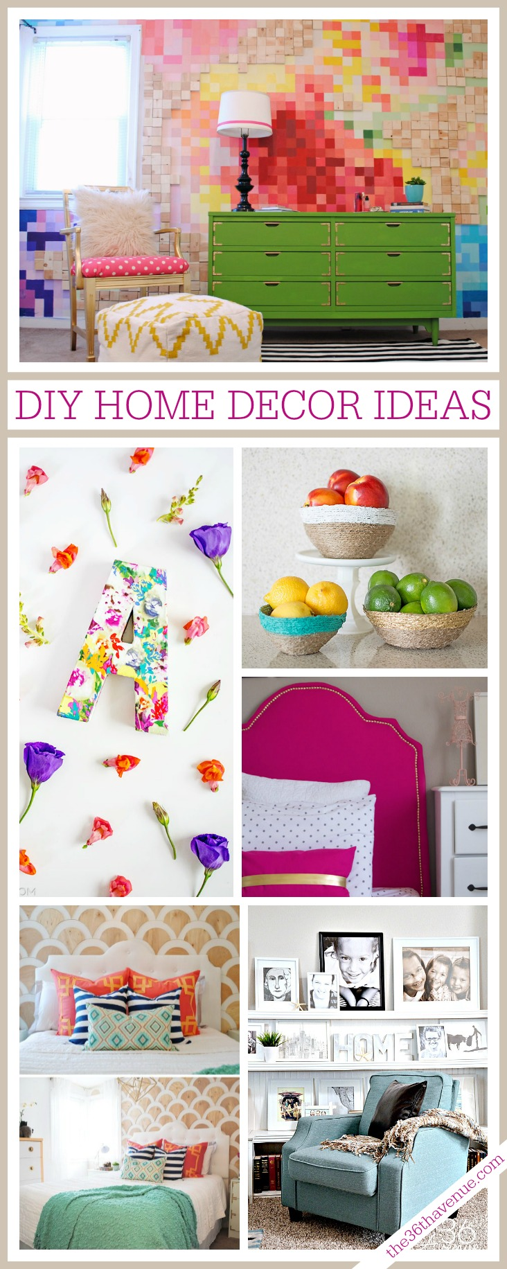 Loving these AMAZING DIY Home Decor Ideas at the36thavenue.com
