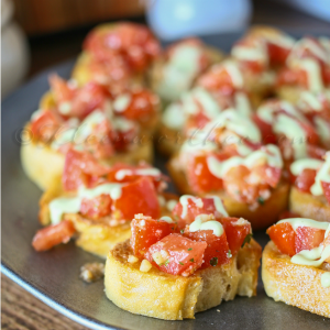 Easy Garlic Bruschetta Recipe