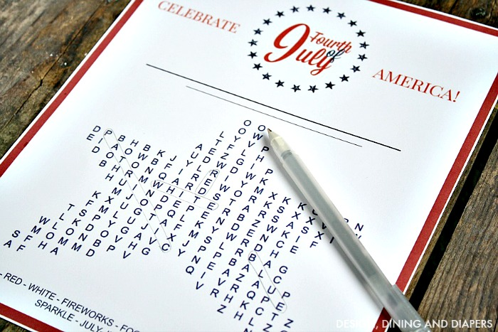 FREE 4th of July Word Search Free Printable