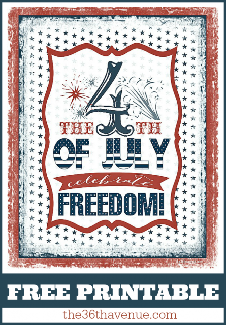 It is a picture of Mesmerizing Free Fourth of July Printables
