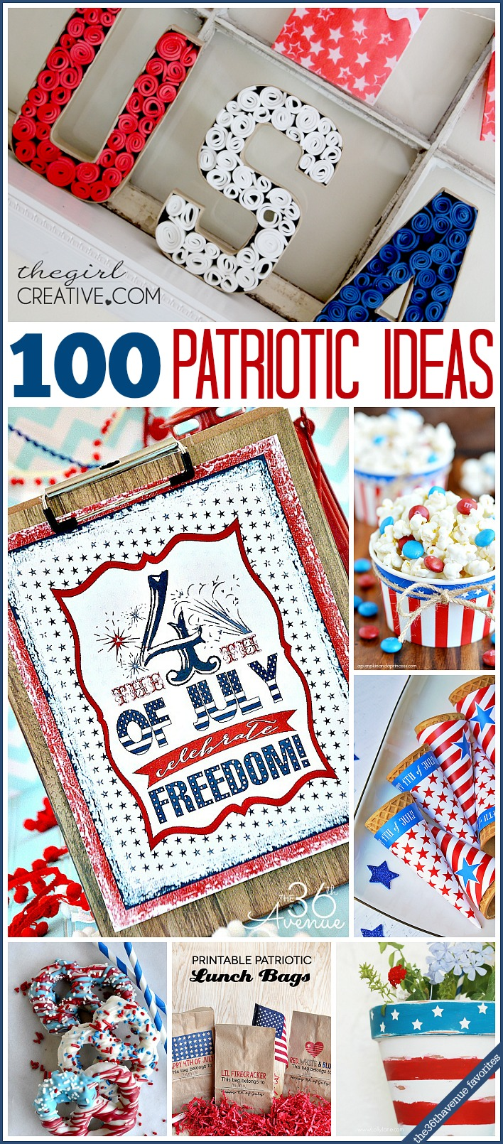 Fourth of July festive and easy DIY ideas... Celebrate!!! the36thavenue.com