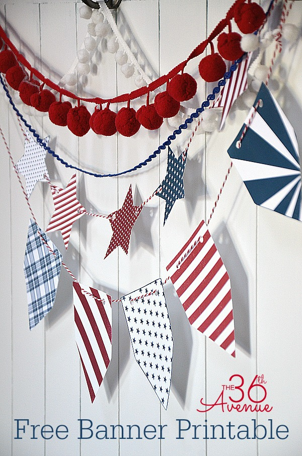 Fourth o July Free Printable. Everything you need to celebrate Independence Day.