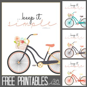 Free Printables ~ Keep It Simple
