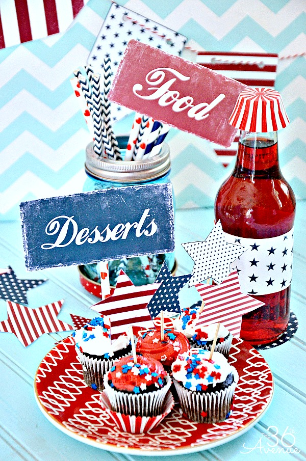 Fourth o July Free Printables... Everything you need to celebrate!!! the36thavenue.com