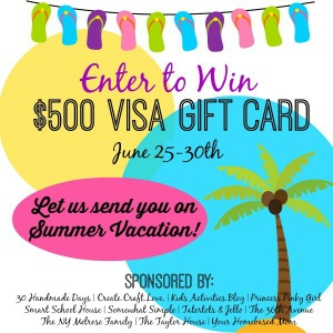 $500 Visa Gift Card Giveaway