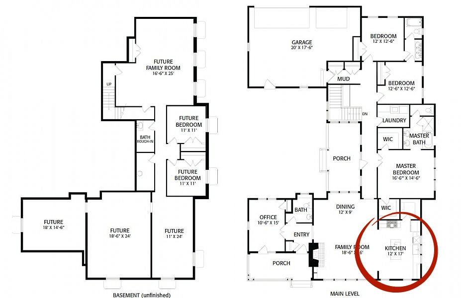 floor plan kitchen