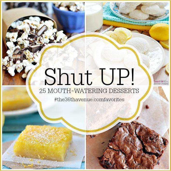 Dessert and Treat Recipe Galore... Shut UP!!! the36thavenue.com #recipes