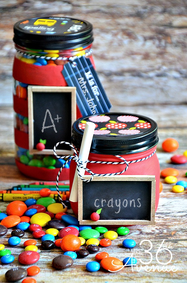 Back to School Jars by the36thavenue.com