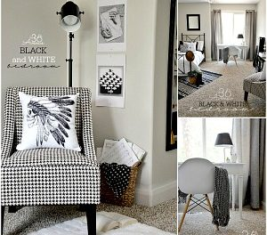 Black and White Bedroom Reveal