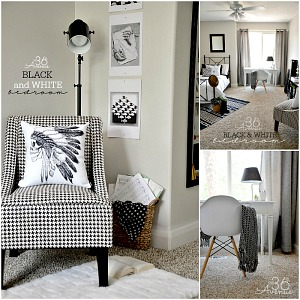Black and White Bedroom Makeover at the36thavenue.com