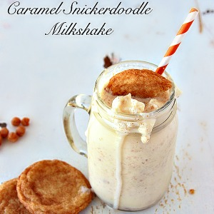 Caramel Snickerdoodle Milkshake by www.whatscookingwithruthie.com