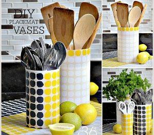 DIY Project Placemat Vases