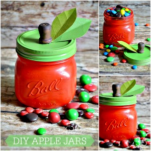 Craft : Super cute Apple Jar Tutorial... Adorable for teachers gifts!