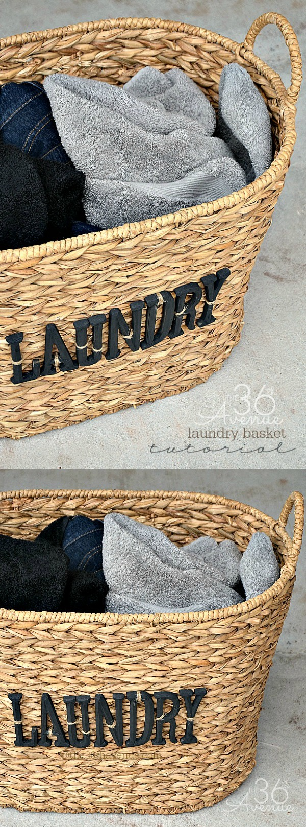 DIY Laundry Basket Tutorial at The 36th Avenue