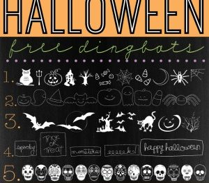 Halloween Free Fonts Dingbats