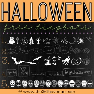 Free Halloween Fonts and Dingbats at the36thavenue.com