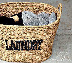 DIY Laundry Basket Tutorial