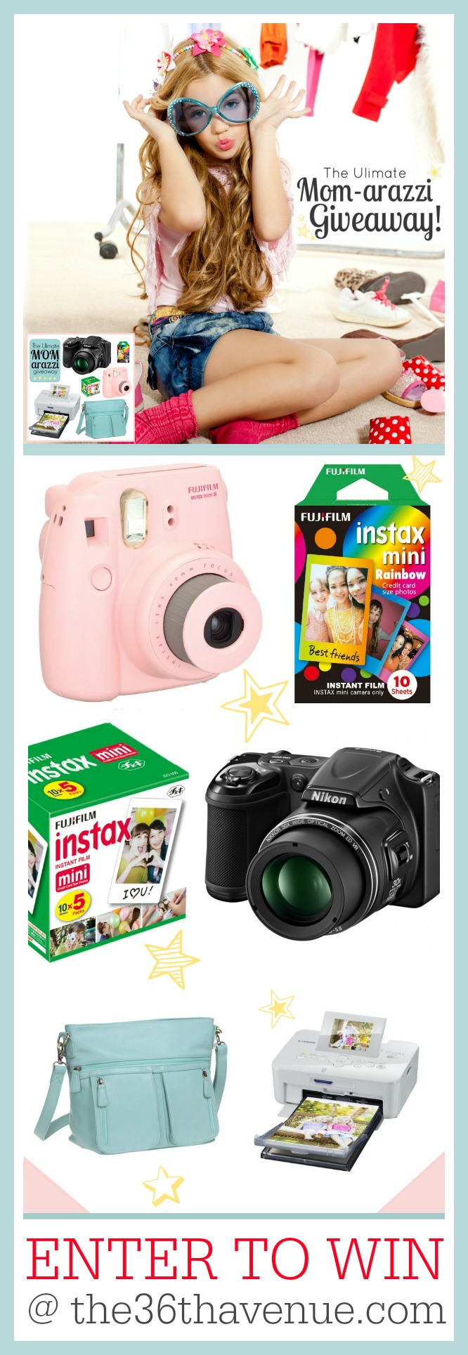 Everything you need to became a Mom-arazzi at the36thavenue.com Loving this GIVEAWAY!