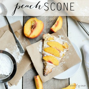Delicious Peach Scone Recipe... Easy and yummy!