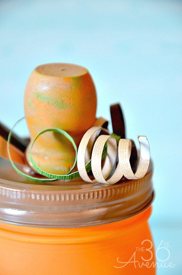 Crafts : DIY Pumpkin Jar Tutorial by the36thavenue.com