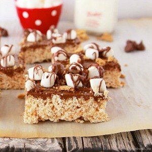 S'mores Rice Krispie Treats