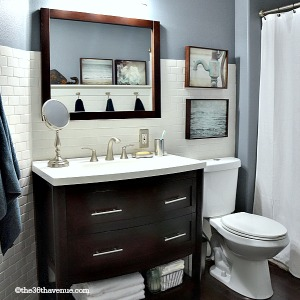 Home Decor - Modern Bathroom Makeover at the36thavenue.com