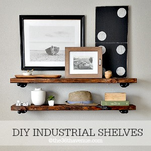 DIY - Home Decor : Awesome DIY Industrial Shelves at the36thavenue.com