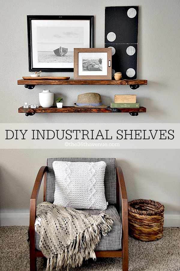 DIY Industrial Shelves at the36thavenue.com